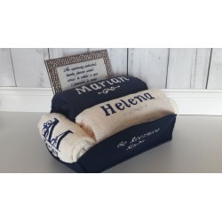 Ślubny komplet ręczników + ramka z życzeniami