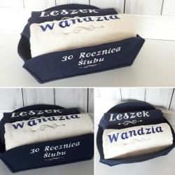 Komplet ręczników z haftem