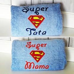 Duży ręcznik kąpielowy z haftem
