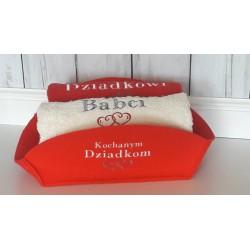 Komplet ręczników z haftem dla Pary