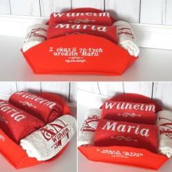 Zestaw 4 ręczników w koszu na Ślub