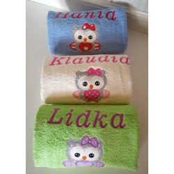 Ręcznik duży z imieniem oraz grafiką 70x140