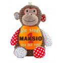 Urocza małpka z imieniem lub dedykacją na  Chrzest Święty, urodziny